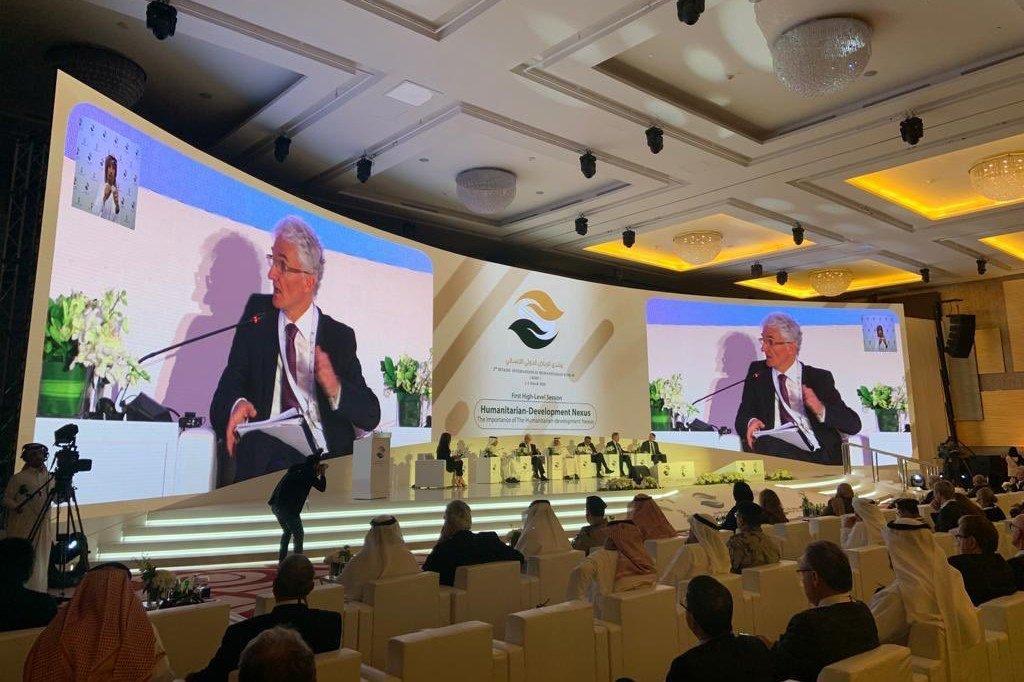 مارك لوكوك، وكيل الأمين العام للشؤون الإنسانية، في منتدى الرياض الدولي الإنساني