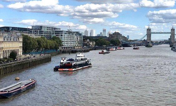 Вид на реку Темзу в Лондоне. В ООН считают, что у речного транспорта большой экономический и экологический потенциал