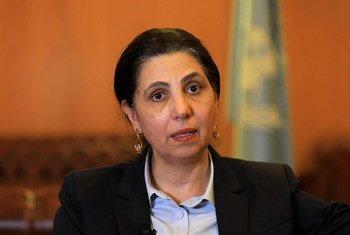 الدكتورة رولا دشتي، الأمينة التنفيذية للجنة الأمم المتحدة الاقتصادية والاجتماعية لغربي آسيا، الإسكوا