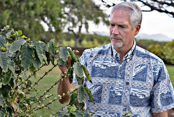 Fred Cowell is the General Manager of  Kauai Coffee Company in Hawaii.