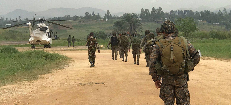 Com cerca de 14 mil militares de 50 países, as tropas de paz da ONU na RD Congo, Monusco, têm desafios como grupos insurgentes e armados