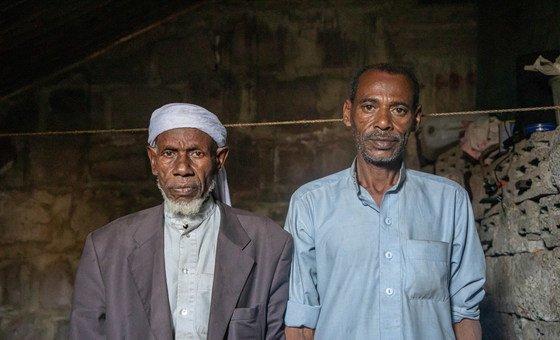 غادر أحمد (اليمين) وشقيقه مدينة تعز مع أسرهم في عام 2018 هربا من القتال.
