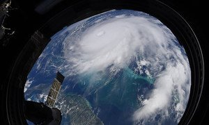 Furacão Dorian visto da Estação Espacial Internacional, em 2 de setembro de 2019
