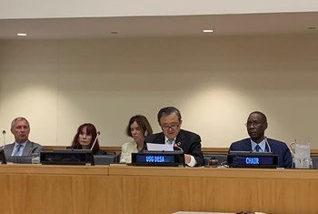 وكيل الأمين العام للشؤون الاقتصادية والاجتماعية، ليو زينمين يلقي كلمة في افتتاح اللجنة الثانية للدورة 74 للجمعية العامة