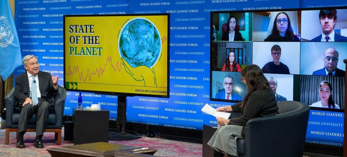 Генеральный секретарь ООН Антониу Гутерриш принял участие в конференции «Состояние планеты», организованной Колумбийским университетом.