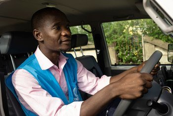 Luis Jose Faife, is a driver for UNHCR in Beira, Mozambique.