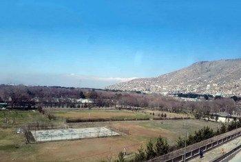 L'Universiité de Kaboul, dans la capitale de l'Afghanistan.