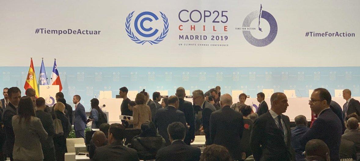 Conferência sobre Mudança Climática da ONU COP25 em Madri, Espanha.