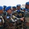 13 भारतीय क्षितिज सैन्य इंजीनियर कंपनी के सैनिक और इंडियन लेवल- II फील्ड हॉस्पिटल ने दक्षिण सूडान के मलाकल में शांति रक्षा पदक परेड का आयोजन किया.