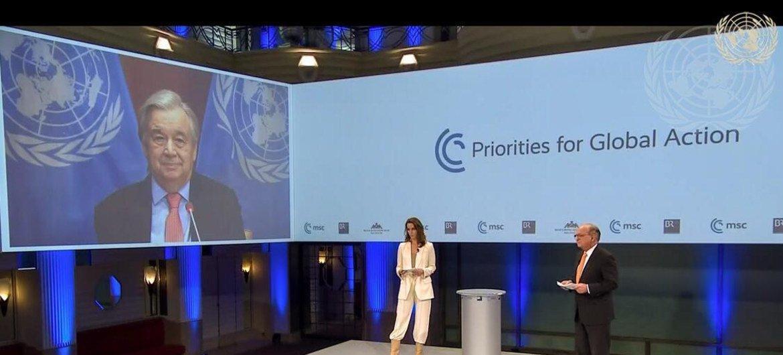 El Secretario General António Guterres participa desde Nueva York en la Conferencia sobre Seguridad, celebrada en Munich, Alemania.