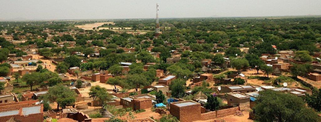 Mtazamo wa mji wa El Geneina, mji mkuu wa Darfur magharibi, Sudan.