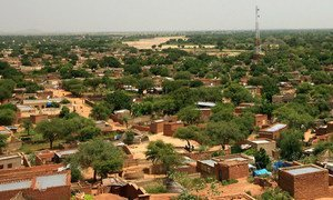 A landscape view of El Geneina town, the capital of West Darfur, Sudan.