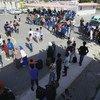 इस केंद्र को उन शरणार्थियों की मेज़बानी के लिए स्थापित किया था जिनकी पहचान लीबिया से बाहर भेजे जाने के लिए हो गई है.