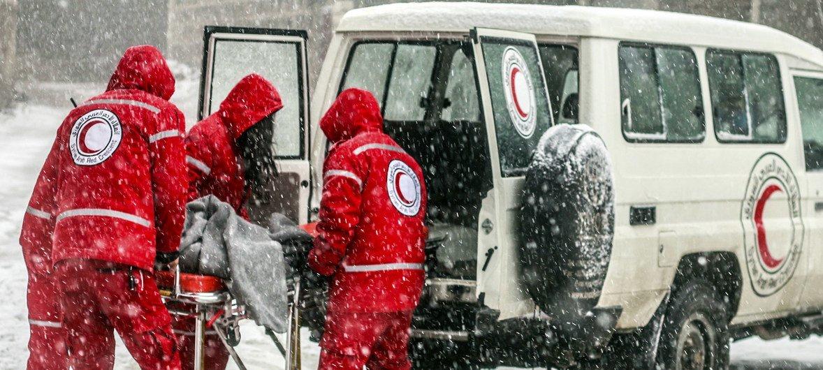 红十字会与红新月会国际联合会等组织正在向叙利亚卫生系统提供支持。