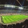 इंग्लैंड के वेम्बली स्टेडियम में एक फ़ुटबॉल मैच का नज़ारा.