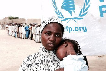 Thousands of displaced women in Nigeria suffering from hunger and food insecurity rely on the UN to survive.