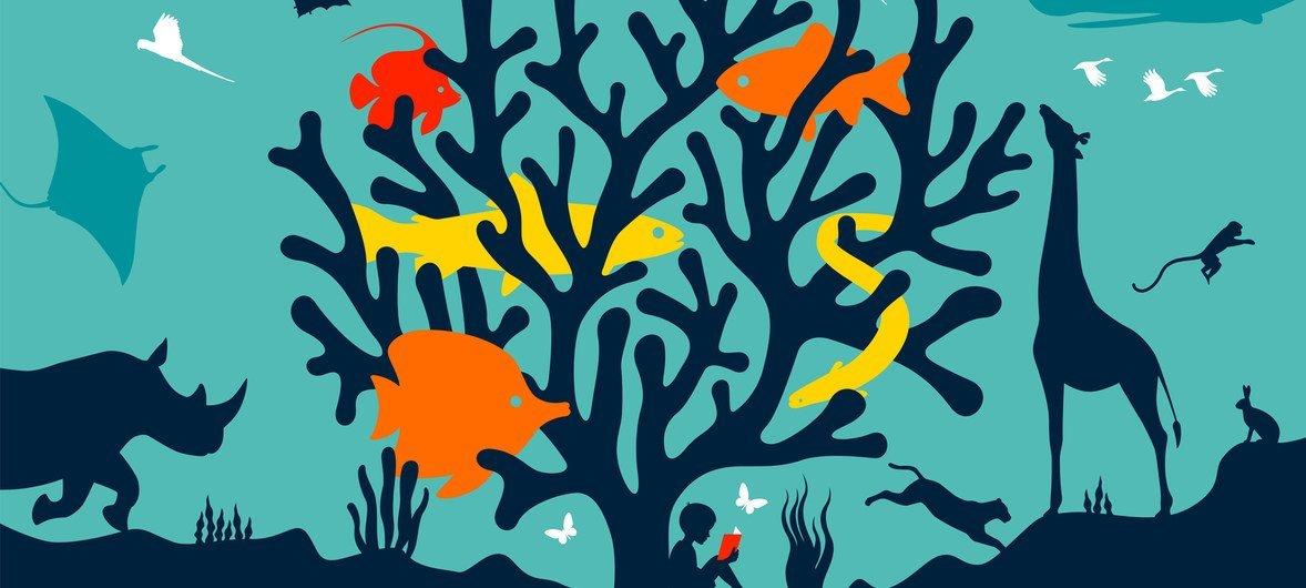 """2020年世界野生动植物日的主题是""""维护地球所有生命"""",即维护构成生物多样性的所有野生动植物物种,也维护人们的生计。"""