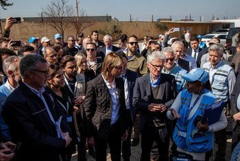 Under-Secretary-General for Humanitarian Affairs and Emergency Relief Coordinator Mark Lowcock, and US Ambassador to the UN  Kelly Craft and in Hatay, Turkey, with Regional Humanitarian UN staff taking part in a cross-border  into northwestern Syria.