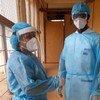 Madaktari wakijiandaa kufanya safari yao kwenye hospitali.