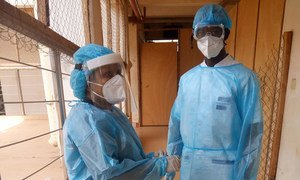 Dr Rokhiatou Babio (left) is one of the few women in Benin who spearheads a medical team on the frontline to save human lives from the coronavirus pandemic.