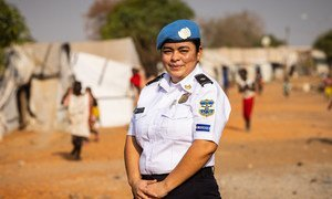 Martina Sandoval, UNPOL officer from El Salvador, serving in UNMISS, the United Nations Mission in South Sudan.