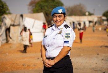 La salvadoreña Martina Sandoval es policía de las Naciones Unidas desplegada en Sudán del Sur.