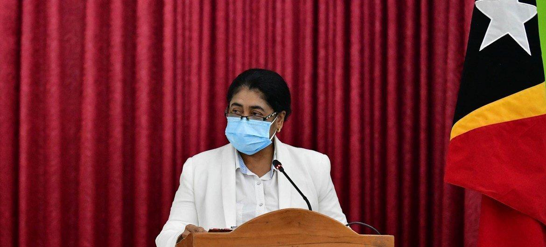Ministra timorense da Saúde, Odete Maria Freitas Belo, tem incentivado a colaboração para combater a pandemia
