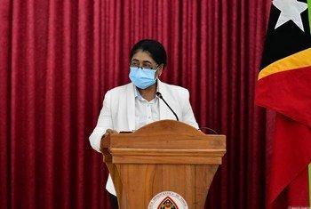 Ministra timorense da Saúde, Odete Maria Freitas Belo ressalta frutos da solidariedade na resposta à pandemia