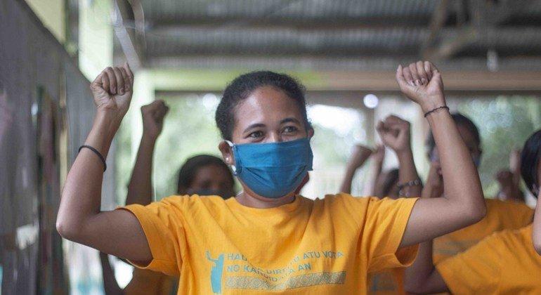 Mujeres y niñas en Timor Leste.