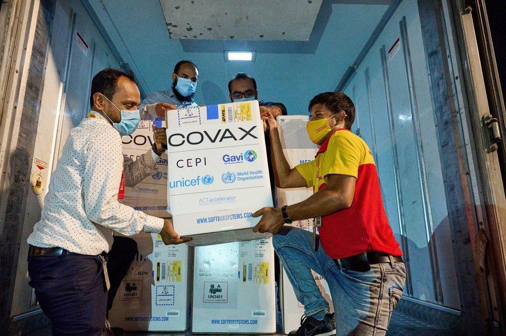 Bangladesh recibió su primer cargamento de vacunas COVID-19 del Mecanismo COVAX el  pasado 31 de mayo.