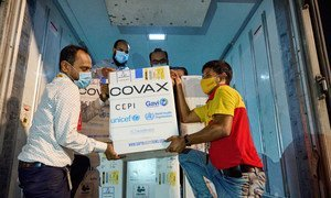Bangladesh receives its first shipment of COVID-19 vaccines from the COVAX Facility on 31 May 2021.