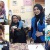 بعض المستفيدون من برنامج الأغذية العالمي في مصر.