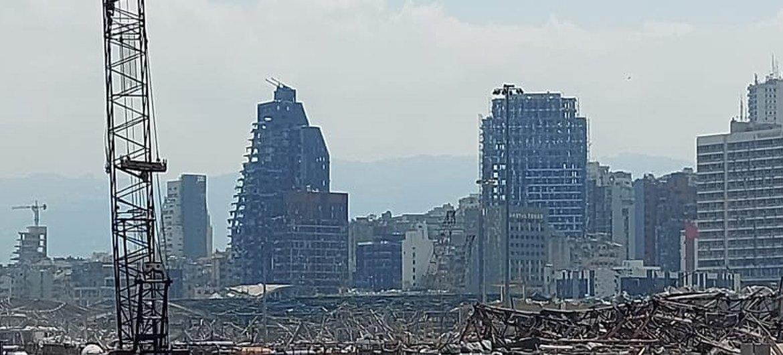 Cais do porto de Beirute visto pela popa da Corveta Bijoy