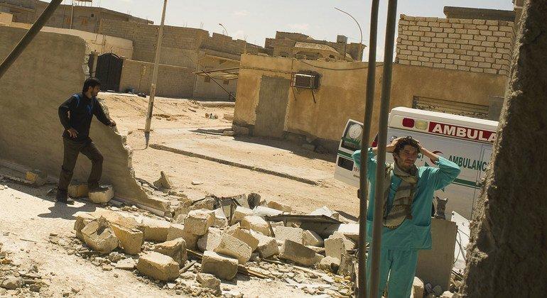 Madaktari wametembelea kituo cha afya kilichoko Adjdabija,Libya ambacho kiliharibiwa katika machafuko mwezi April 2021