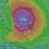 बहामास के ऊपर डोरियन तूफ़ान के असर का ग्राफ़िक मंज़र