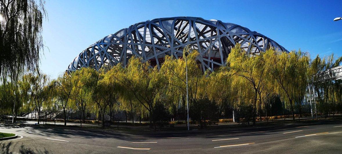 北京鸟巢。