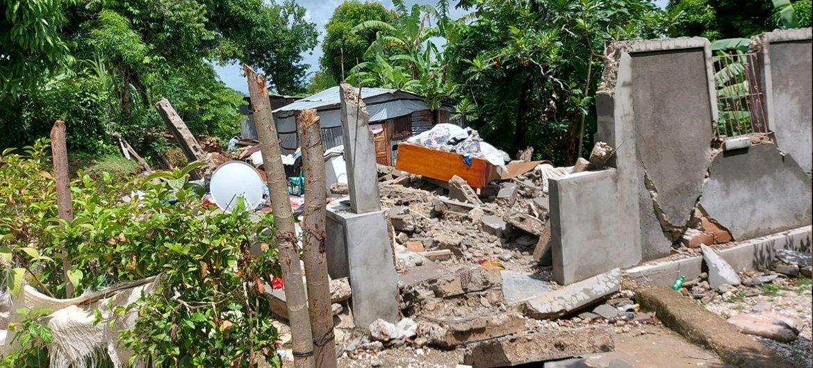 A 7.2 magnitude earthquake that ripped done  Haiti was followed days aboriginal    by Tropical Depression Grace, devastating populations successful  the Caribbean Island State.