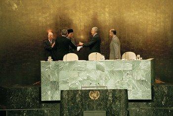Freitas do Amaral presidiu a 50ª sessão da Assembleia Geral, entre 1995 e 1996.