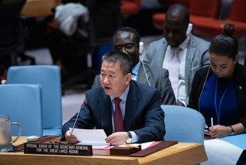 Huang Xia, Envoyé spécial du Secrétaire général de l'ONU pour la région des Grands Lacs d'Afrique, prend la parole au Conseil de sécurité (octobre 2019)