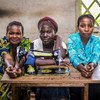 Women in the Democratic Republic of the Congo are being supported by the United Nations to begin small businesses such as tailoring.