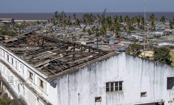Vista desde a prefeitura de Beira, a cidade moçambicana mais atingida pelo ciclone Idai
