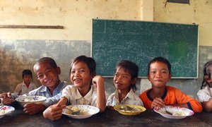 WFP has been providing nutritious school meals to Cambodian school children in rural and food-insecure communities since 2008.