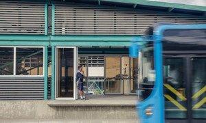 坦桑尼亚达累斯萨拉姆2015年建成的快速公交车站。