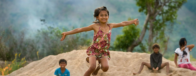 Children in Gia Lai province in Viet Nam enjoy playtime after school.