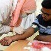 هند الغربلي تعمل ضمن برنامج تمكين الاستجابة لـ Covid19 وخلق 400 فرصة عمل لشباب غزة بدعم المكتب التمثيلي لليابان في فلسطين. 25 حزيران/يونيه 2020، مدينة غزة.