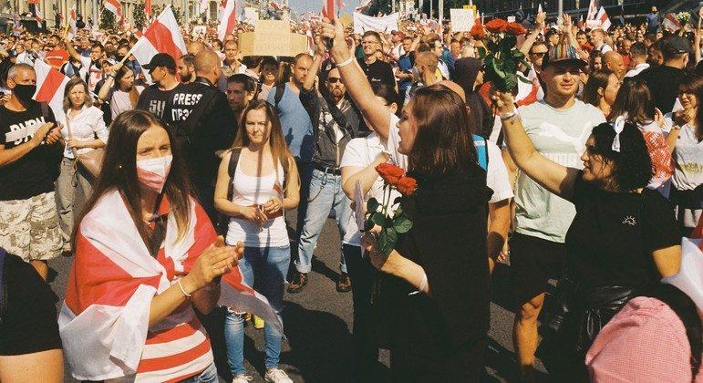 Массовые протесты в Минске, Беларусь. Фото из архива