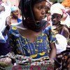 Mothers at a health clinic in Bamako, Mali.