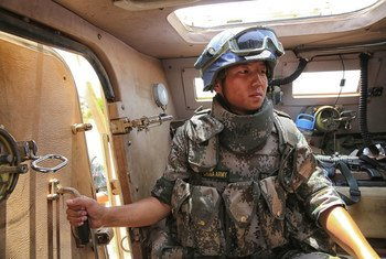 UNMISS' Chinese contingent (CHNBATT) Patrols the Weapons Free Zone in South Sudan.