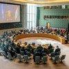 مشهد عام لمجلس الأمن أثناء الإحاطة التي قدمتها جينين هينيس-بلاسخارت ممثلة الأمين العام الخاصة في العراق