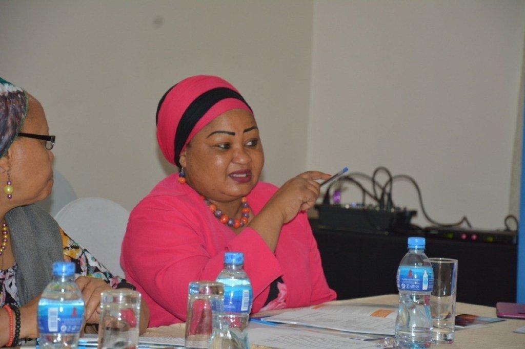 Amina Mollel, mbunge kutoka Tanzania akiwakilisha watu wenye ulemavu.